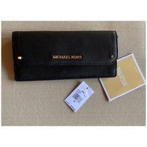 Michael Kors Black Leather Wallet Womens